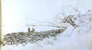 William Gell, Η χώρα της Ζακύνθου από ψηλά