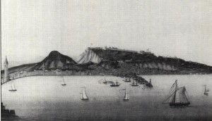 Ζάκυνθος, Άποψη του Κάστρου περί τον 18ο αι