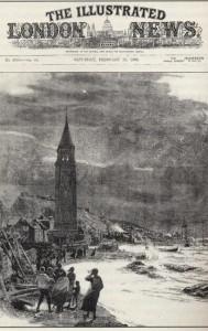 Εξώφυλλο των Illustrated London News της 25ης.02.1893 με σκίτσο του C. W. Wyllie των σεισμών του 1893