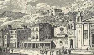 Antoine Laurent Castellan , Η Πλατεία Αγίου Μάρκου (1797), χαλκογραφία