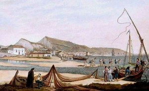 Joseph Cartwrigt, Η χώρα της Ζακύνθου και το λιμάνι, London 1821