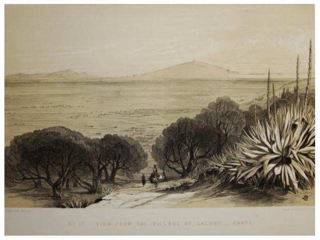 Edward Lear, 1863, Θέα από το χωριό Γαλάρο